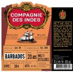 Compagnie des Indes Barbados Multi Distilleries 20yo