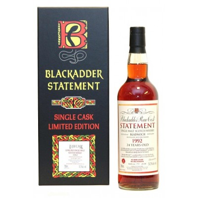 Blackadder Raw Cask Statement Bladnoch 24yo 1992 (51,2%